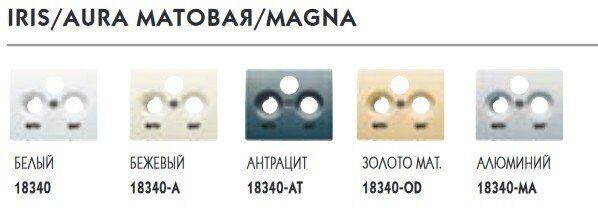 Фото - 18340 Обрамление R/TV-SAT розетки (3 выхода), белый IRIS BJC