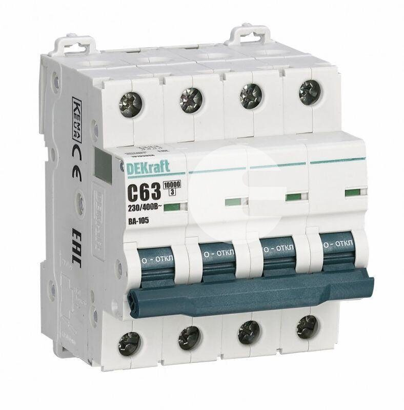 Выключатель автоматический ВА101-4Р-006А-C 4Р 6А 4,5кА С ДЭК, фото