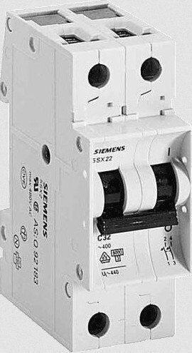 Выключатель автоматический 2Р 16А 3кА В SIEMENS, фото