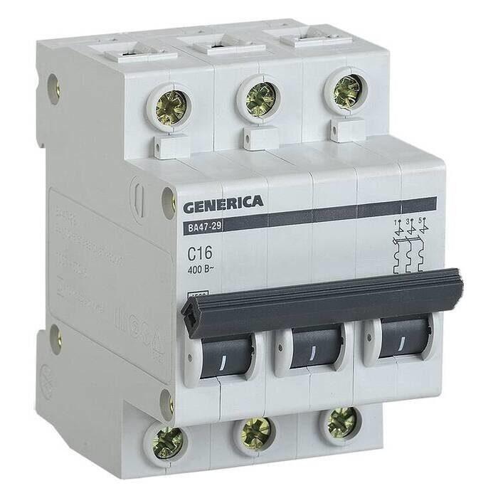 Выключатель автоматический ВА47-29 3Р 32А 4,5кА С GENERICA, фото