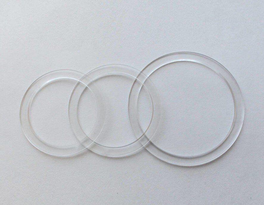 Фото - Ecola Термокольцо прозрачное для устновки GX53-H4 d=90/120 R90X20ECB