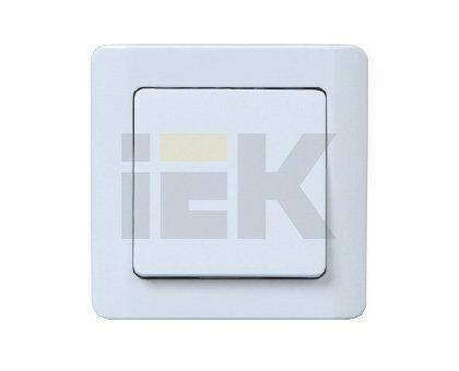 Фото - Выключатель СУ 1-клав. (мех-м) жемчужный металлик ВС10-1-0-ГЖ Легата IEK EVG10-K32-10-BM