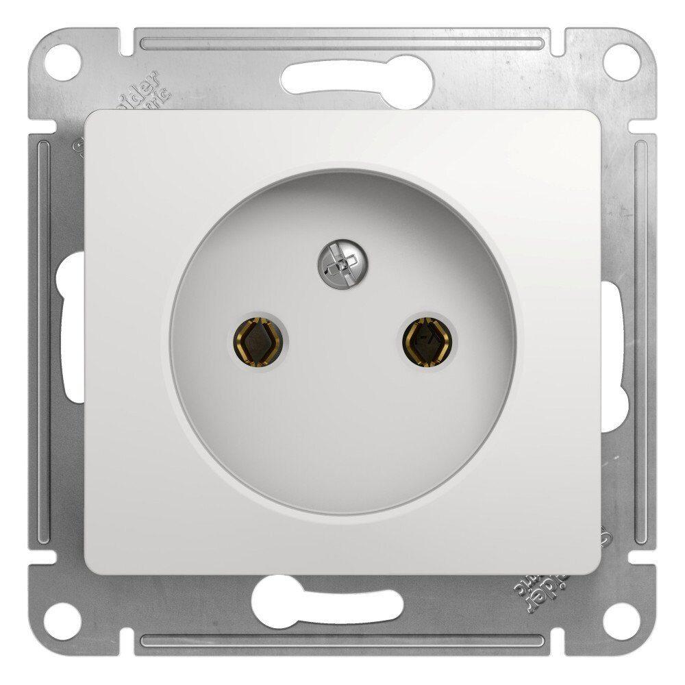 Фото - Розетка 1-местная  Schneider Electric GLOSSA GSL000141 без з/к механизм белый