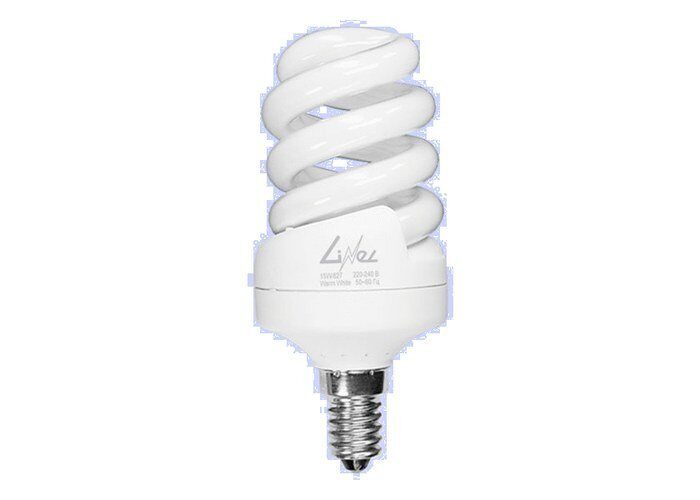 Фото - Лампа энергосберегающая 15W/827 E14 спираль Linel