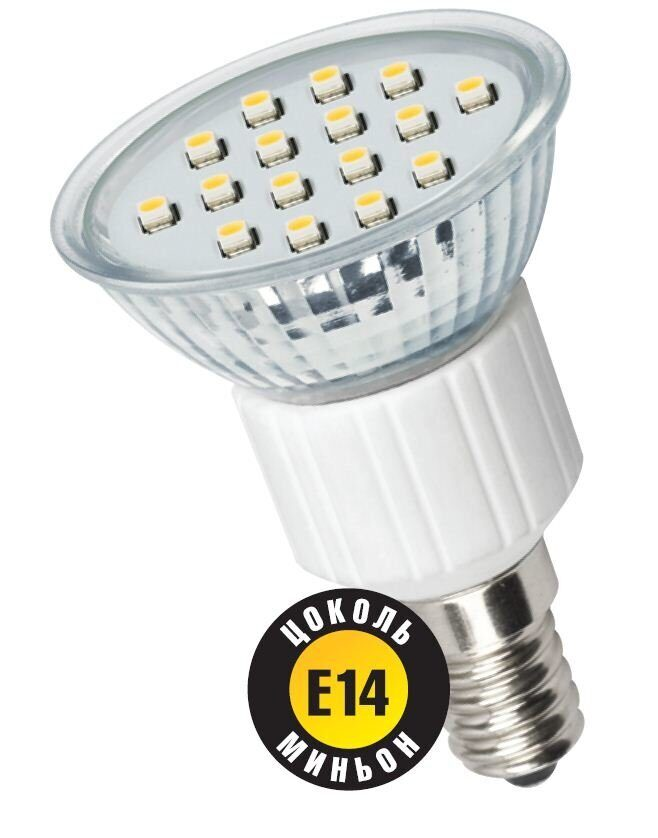 Фото - Лампа светод.NLL- PAR16 -230-3K-E14  1.6W 230V реф.120 гр. 3000K  R-50 Navigator