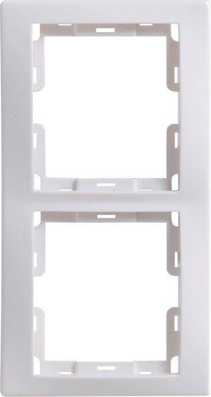Фото - РВ-2-КБ Рамка 2 мест. вертикальная КВАРТА (белая)
