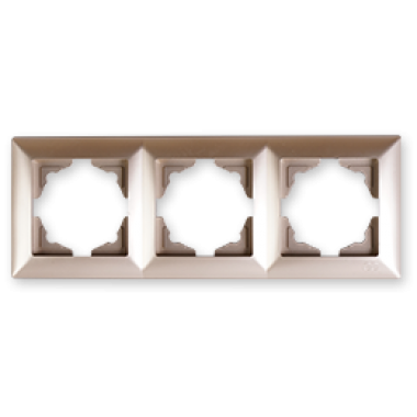 Фото - Рамка 3-м бежевый металлик универсальная Visage Ambience VS 28 25 143