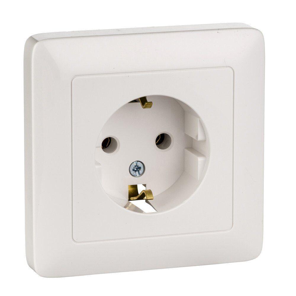 Фото - Выключатель 2-клавишный Schneider Electric Хит VS56-234-B (ВС56-234-б)  С/У (250В, 6А) белый