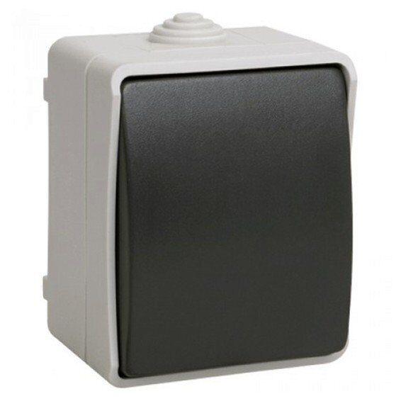 Фото - Выключатель 1-клавишный для открытой установки ВС20-1-0-ФСр ФОРС IP54 IEK