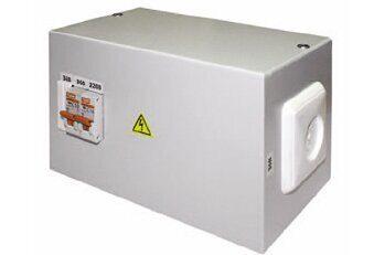 Фото - Ящик с понижающим трансформатором ЯТП-0,25 220/36В-2 автомата